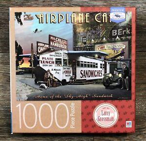 Airplane Cafe Dinner 1000 Pc Milton Bradley Puzzle Larry Grossman Artwork TWA