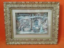 Framed Anton Pieck 3d 3D Diarama Of A Toy Shop Approx Year 1988