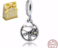 💎🎀 STERLING SILVER 925 FAMILY TREE HERITAGE CHARM & POUCH MUM SISTER DAUGHTER