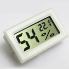 White Digital LCD Thermometer Hygrometer Humidity Temperature Meter Indoor Mini