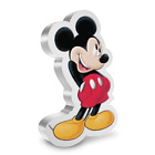 2021 Niue Disney Mickey Mouse Shaped 1 oz Silver Proof Coin - 10,000 Made
