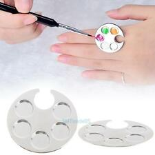 Mini Finger Nail Art Colors Mixing Palette For Free Hand Manicure Ring Nail Tool