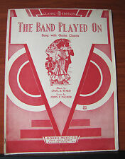 The Band Played On by Ward- 1941 sheet music for Vocal, Piano, Guitar Chords