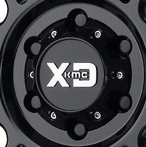 KMC XD 829 Hoss II Center Cap 8x165 Gloss Black fits 8x6.5 fits Chevy GMC Dodge