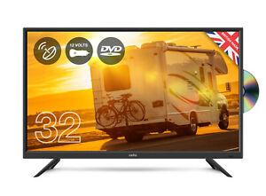 "CELLO 32"" inch 12v volt LED TV DVD & SAT FREEVIEW HD HDMI & USB CARAVAN TV"