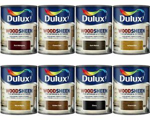 Dulux Woodsheen Wood Stain Varnish Interior Exterior Quick Drying Satin Finish