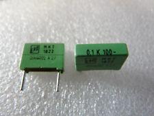 2 condensateurs 0,1uF 100nF 100V ERO MKT1822