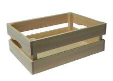 Wooden Crate - Unpainted Pine Wood Storage Box DIY Medium size 40 x 28 x 15 cm