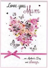 Boxed Mother's Day Card Love You Mum Luxury Lavish Keepsake Greeting Cards