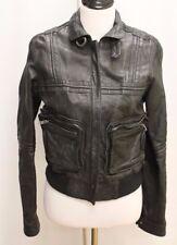 ALL SAINTS Boston bomber SS08 Leather Motorcycle Women's Jacket Size US 8 EU 38