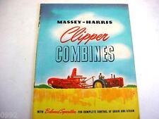 Massey Harris Clipper Combines Brochure 1940's