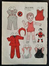 1943, This Is Peter Mag. Paper Dolls, Wee Wisdom