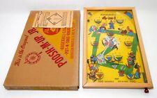 RARE VINT 1930'S POOSH M-UP JR. 4 IN 1 BAGATELLE MANUAL PINBALL GAME, W/ORIG BOX