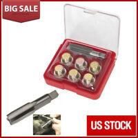 7Pcs M15 x 1.5 Oil Pan Thread Repair Kit Set Sump Drain Plug Repair Tool Kit