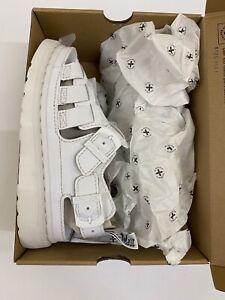 Dr Martens 8092 Arc Mono Sandals White Womens Size Uk 6.5