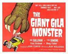 Giant Gila Monster 02 Metal Sign A4 12x8 Aluminium