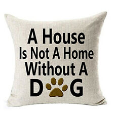 Best Dog Lover Gifts Cotton Linen Throw Pillow Case Cushion Cover Home Decor a