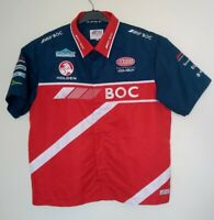 Holden BOC Team V8 Supercars Mens Button Up Red Navy Official Collared Shirt XL