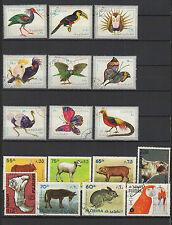 oiseaux Animaux Fujeira 16 timbres oblitérés / T1462