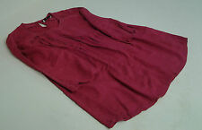 Womens TU Top Red Colour Lace Detail to Front & Sleeves size 12