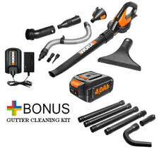 WG545.4 WORX 20V 4.0Ah Max Lithium Blower/Sweeper + FREE Gutter Kit Included!