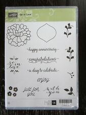 Stampin Up!  So in Love 143216 Set of 14 Stamps New  SH