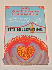 Rare SUMMER OF LOVE 30th ANNIVERSARY Poster IT'S MILLER TIME