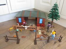 VINTAGE PLAYMOBIL SNAKE RIVER RANCH WITH FIGURES & ACCESSORIES