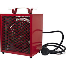 Comfort Zone Large Fan Forced Industrial Workshop Space Heater, Red (Open Box)