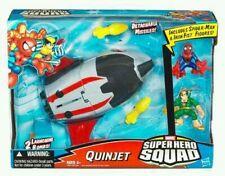 MARVEL HERO SQUAD Avengers jet avec Spiderman & Iron Fist figures