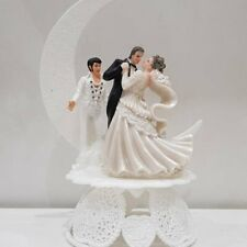 DANCE Elvis Presley King Las Vegas Wedding cake topper Bride Groom Funny chapel