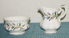 Royal Albert England Bone China Brigadoon 8 oz. Creamer & Open Sugar Bowl - VGD