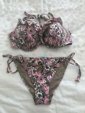 H & M Floral Print bikini. Size S Bottoms And 36D Top