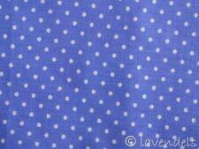 0,5 m Stoff Punkte Ökotex ♥ Baumwolle blau polka dots flieder lavendel