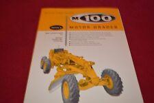 Allis Chalmers M100 Series B Motor Grader Dealer's Brochure YABE14