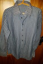 mens FIRETRAP blue striped shirt size M
