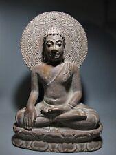 THAI SCULPTURE SANDSTONE BUDDHA CHIANGSAEN SUKHOTHAI FIGURE RELIC STONE ARTIFACT