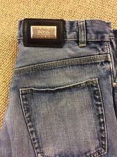 Mens HUGO BOSS W34 L30.5 Alabama Blue Denim Jeans Good Condition