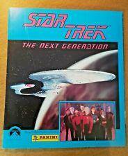 STAR TREK PANINI ALBUM 1992 The Next Generation, With stickers.