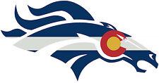 Denver Broncos Colorado Flag Cast Vinyl Full Window Bumper Sticker Decal!