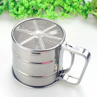 Stainless Steel Mesh Flour Sifter Sieve Strainer Cake Baking Kitchens tools