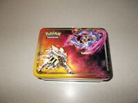 Collectible Pokemon lunch box style tin game carry and storage box empty used