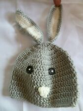 So'Dorable Crocheted Baby Bunny Hat Size 0-3-6 Months Gray Photo Prop Easter