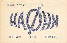 AA93 Carte QSL Radio Amateur Opérateur HA0HN  de HONGRIE a DEBRECEN