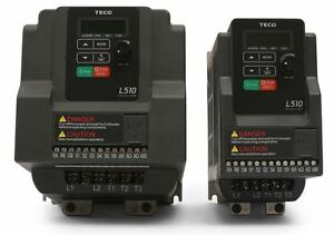 2 HP 230V 1PH INPUT 230V 3PH OUTPUT TECO VARIABLE FREQUENCY DRIVE L510-202-H1-U
