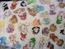"""""""MOM"""" colorful LADIES~Loralie quality cotton sew fabric BY THE YARD x 45"""" wide"""