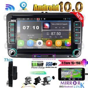 Andriod 10.0 Car Radio +Camera For VW PASSAT Caddy Tiguan Golf Mk5 Mk6 Polo EOS