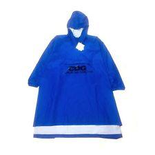 NWT Comme des Garcons Men JAPAN Blue CDG Logo Print Rain Poncho Jacket AUTHENTIC