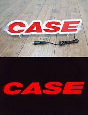 3D 12V LED Leuchtschild für CASE Traktor Fahrer Rot Logo Schild Zubehör Werbung