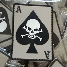 ACE OF SPADE - SCULL – THE DEATH DEALER CARD 2D PVC PATCH